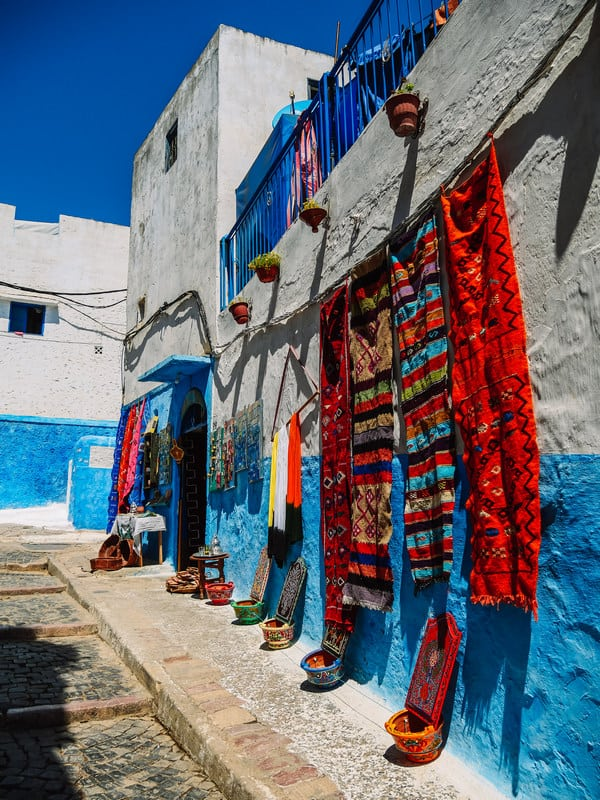 blue old medina Rabat - journal of nomads