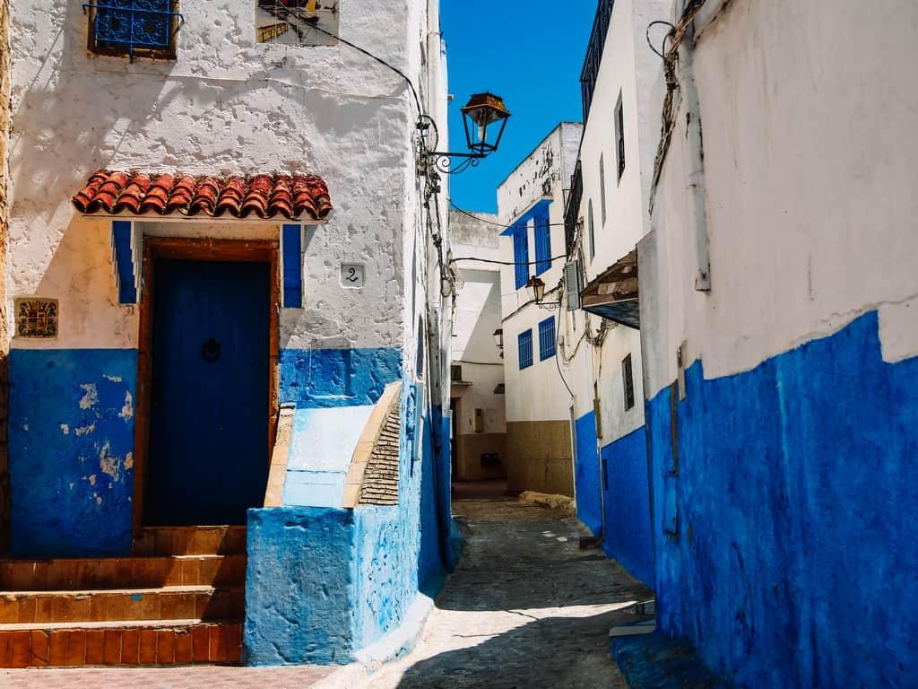 blue city Rabat - Kasbah des Oudaias - journal of nomads