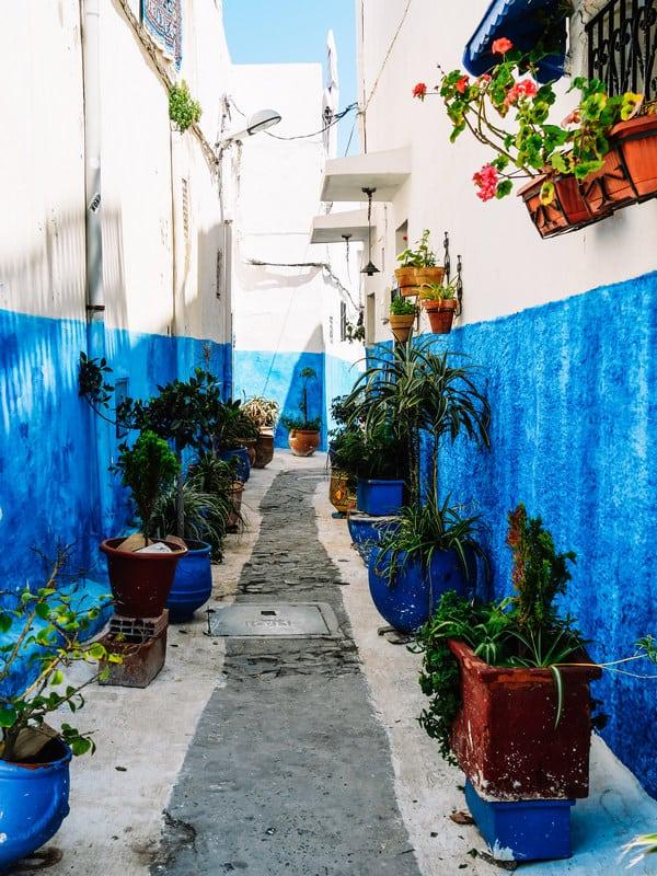blue city Rabat - old medina - journal of nomads