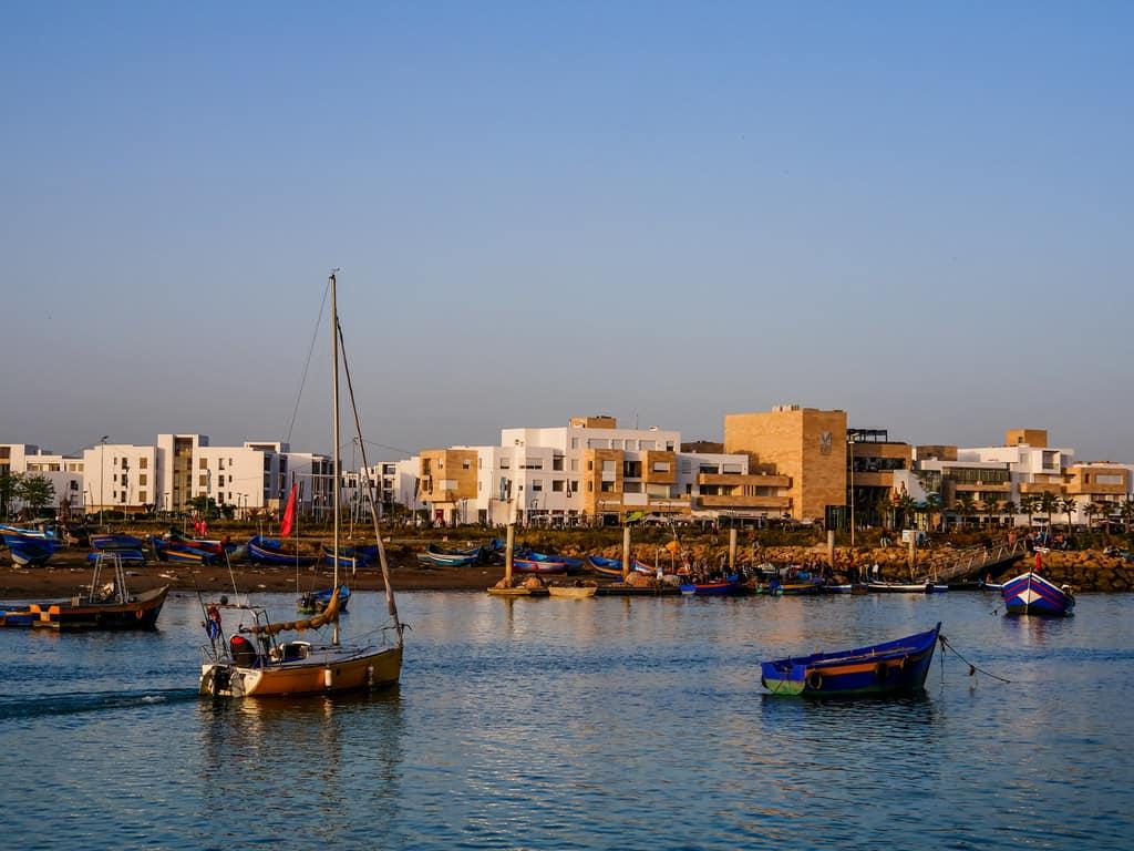 sunset bou regreg river - boat rides Rabat - journal of nomads