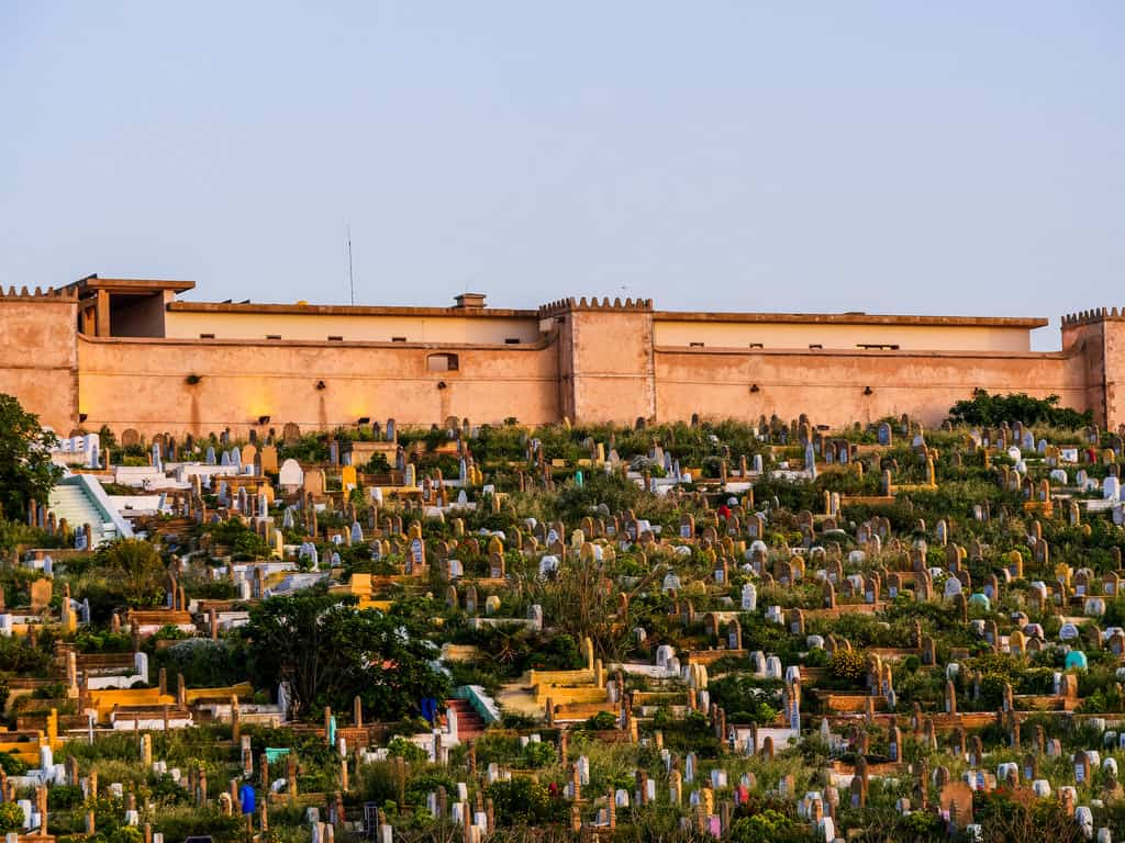 beautiful graveyard Rabat - Rabat cemetery - journal of nomads