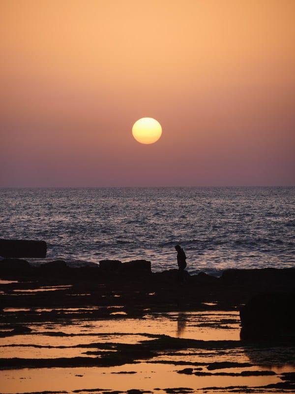 coast Rabat sunset low-tide Morocco - journal of nomads