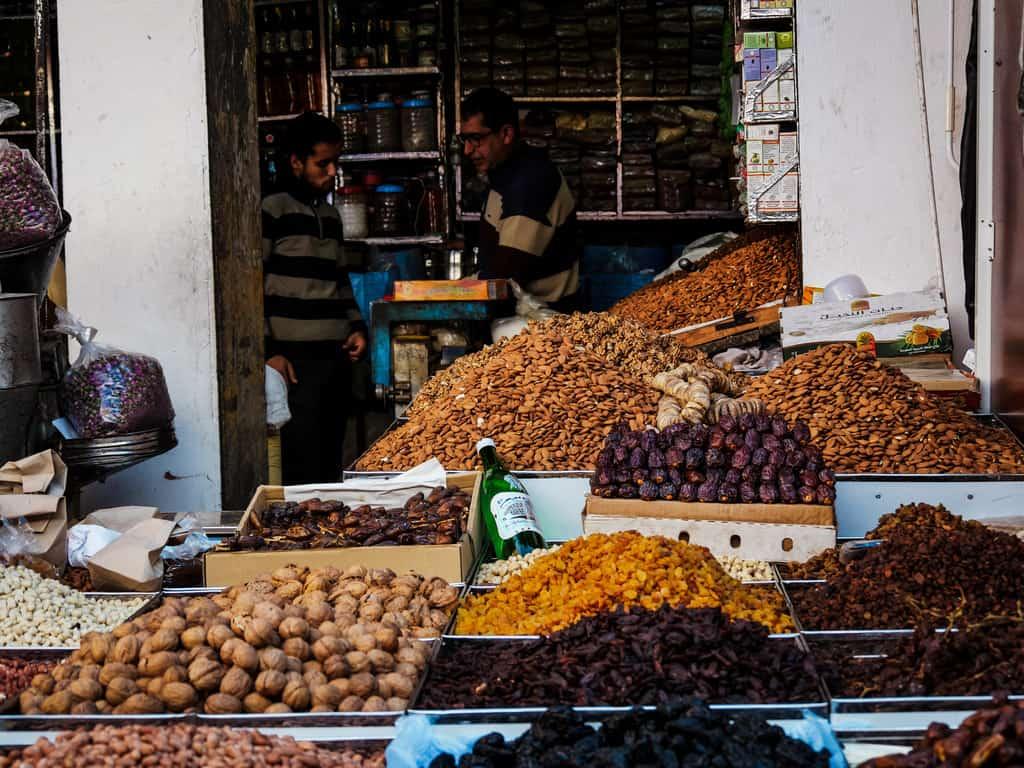 markets old medina - fruit seller Rabat - journal of nomads