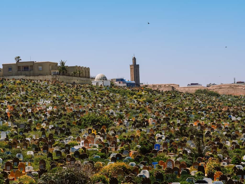 beautiful graveyard Rabat - cemetery Rabat - journal of nomads