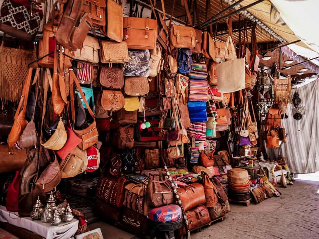 leather shops old medina Rabat Morocco - journal of nomads