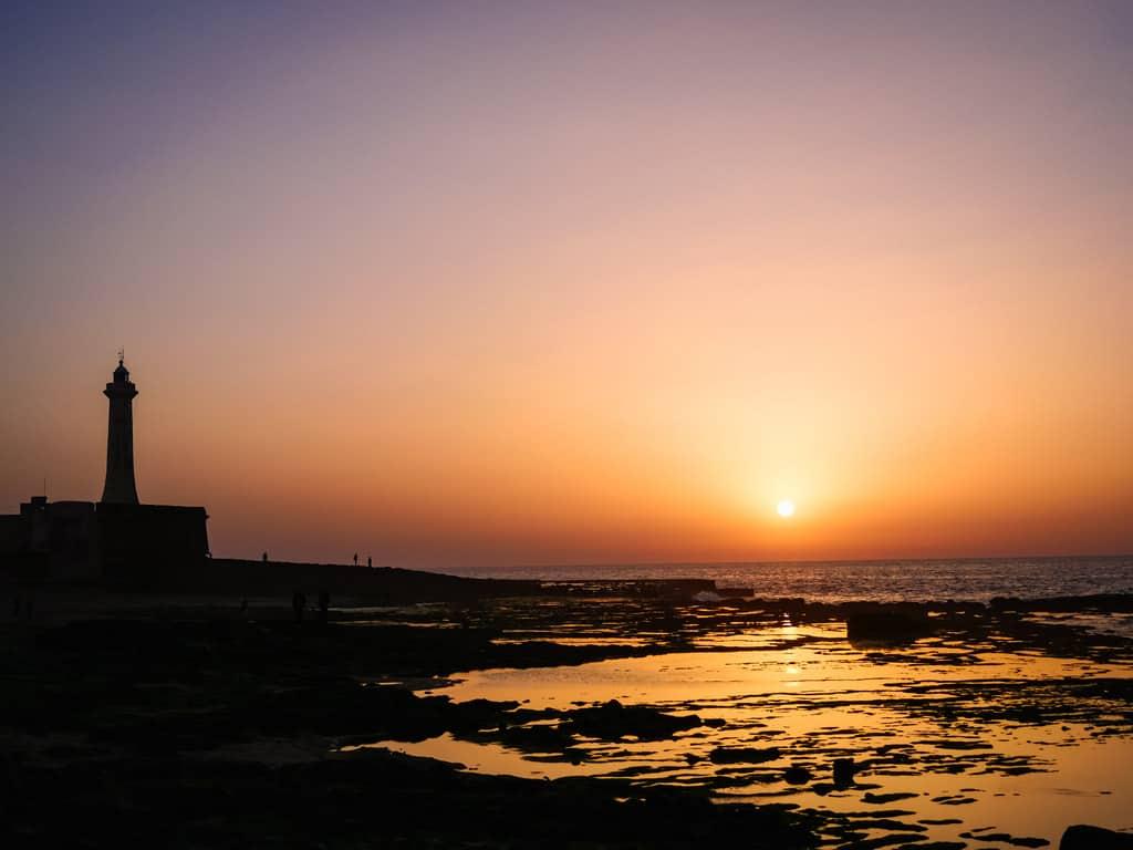 light-house Rabat during sunset - journal of nomads