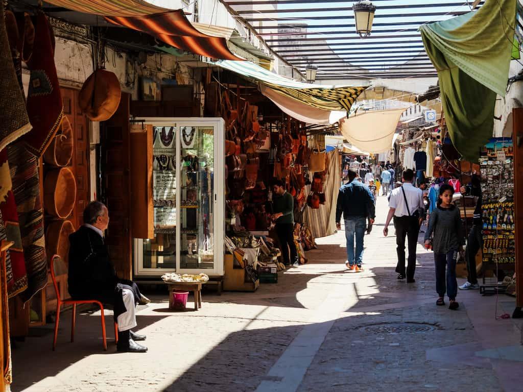 different shops old medina Rabat Morocco - journal of nomads