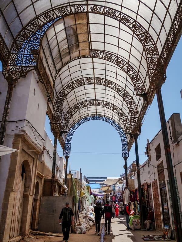 old medina of Rabat - open air market Morocco - journal of nomads