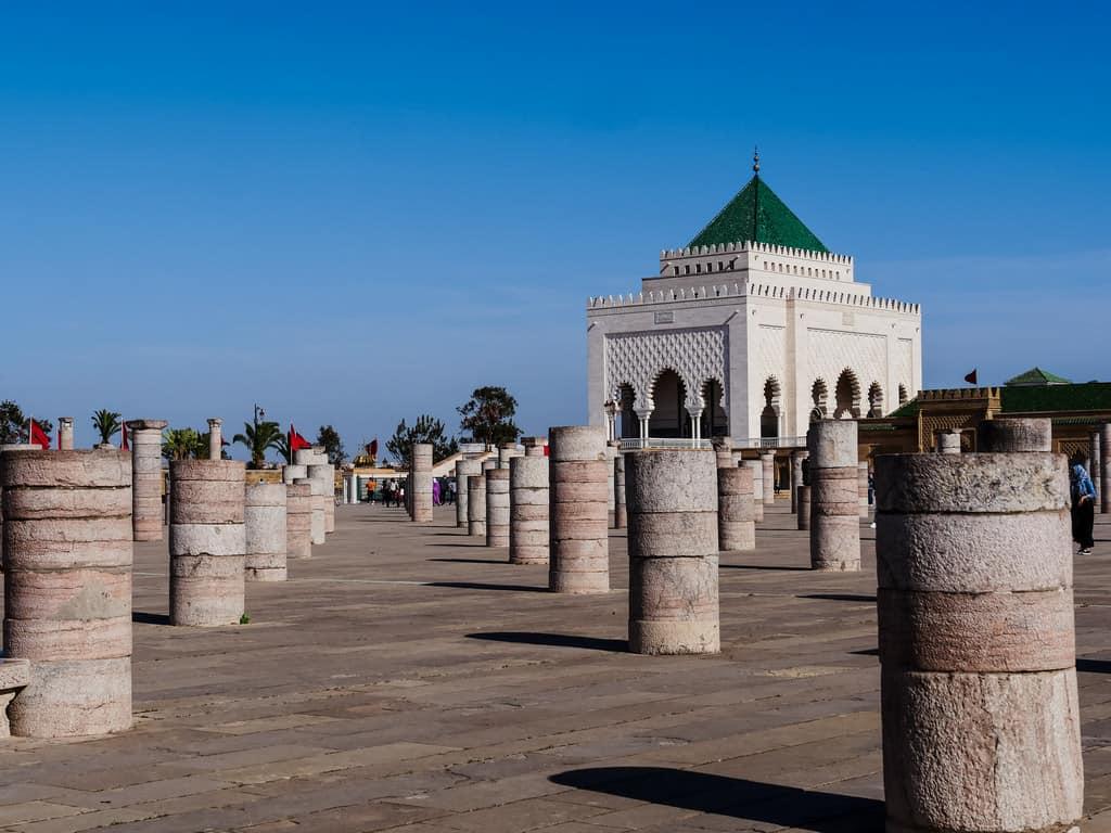 mausoleum mohammed V Rbat Morocco - journal of nomads