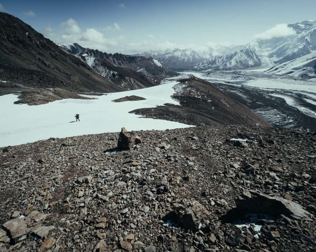 Hiking to Lenin Peak - A Complete Guide to Trekking in Kyrgyzstan with the best and most beautiful hikes of the country - Journal of Nomads - Photo by Chris Eyre-Walker