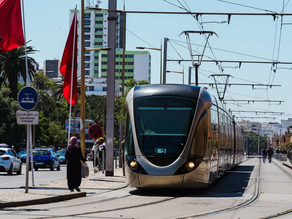 tramway system Rabat Morocco - tram in rabat - journal of nomads