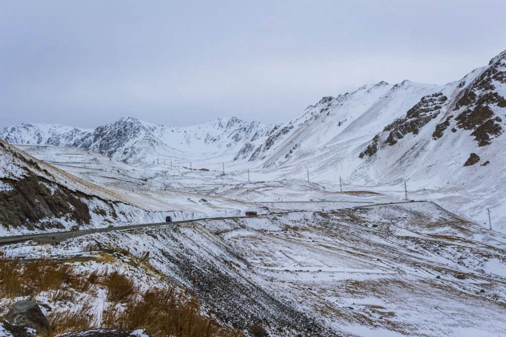 Ala Bell Mountain Pass in winter - best places to visit in Kyrgyzstan - Journal of Nomads