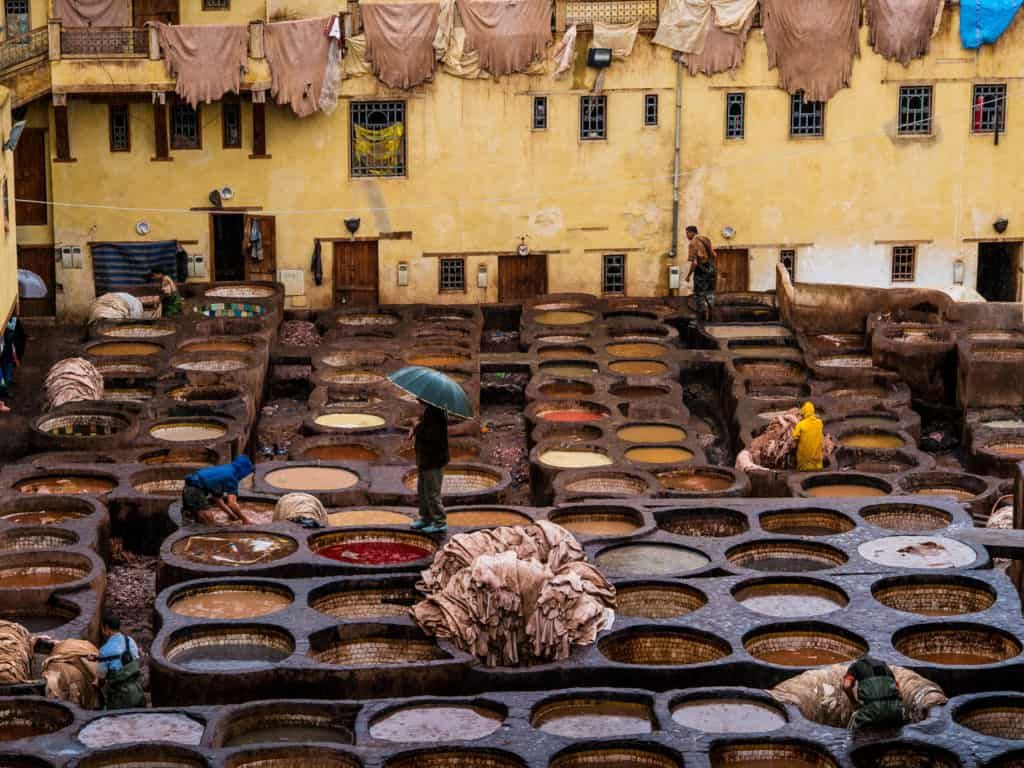 In Photos: Visiting the Leather Tanneries of Fez