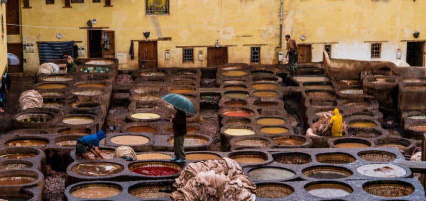 Visiting the leather tanneries of Fez - Chouara Tannery Fes Morocco - Journal of Nomads