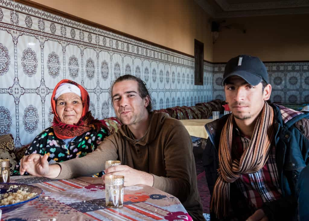 Invited by a Moroccan family in their home - Backpacking in Morocco - Journal of Nomads