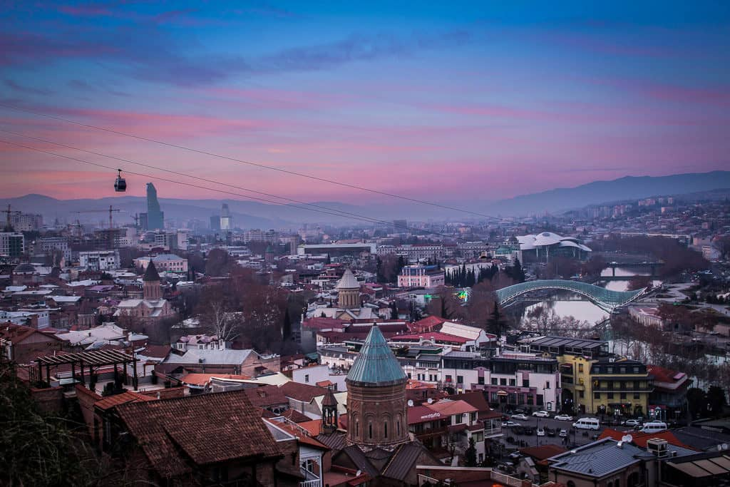 Taking the cable car in Tbilisi at sunset - Journal of Nomads