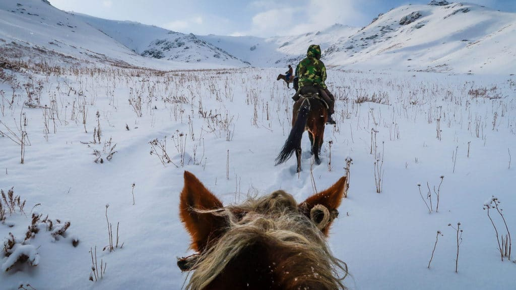 Kyrgyzstan horse trek Song Kol in winter - Journal of Nomads