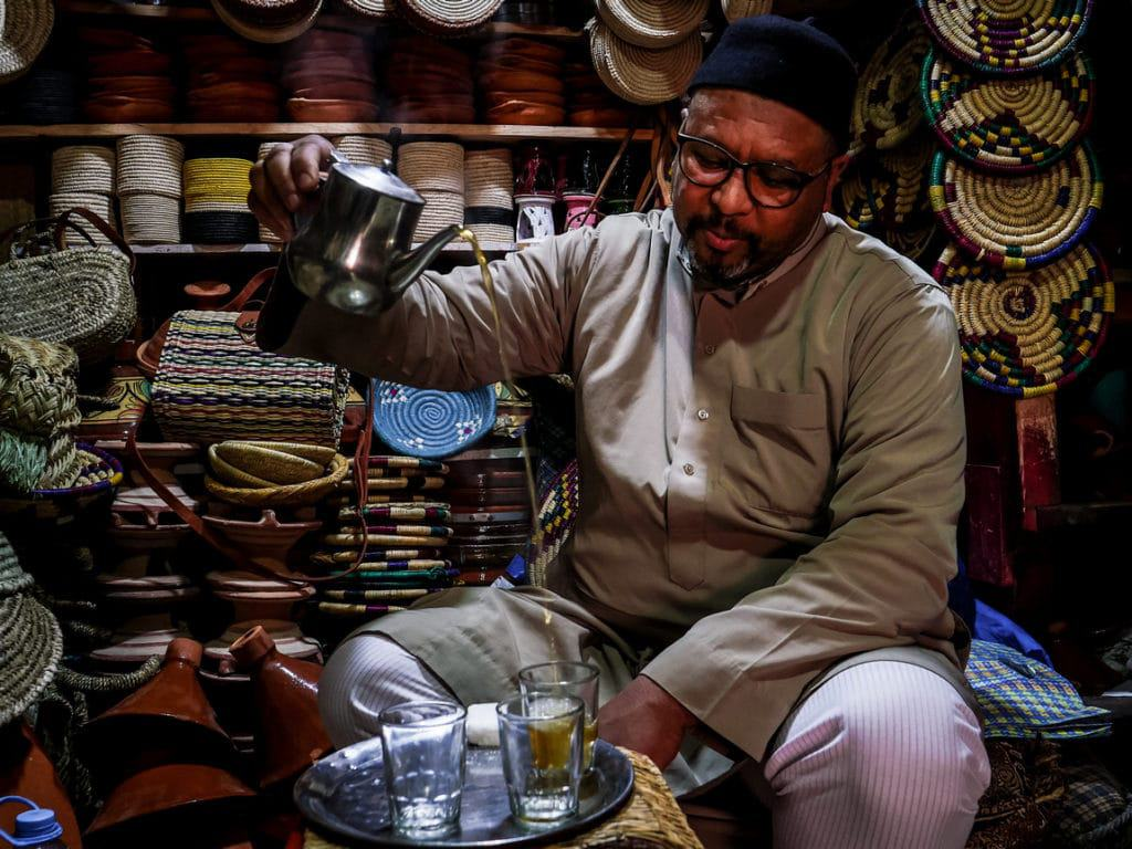 Drinking Mint Tea Morocco - Moroccan Tea - Journal of Nomads
