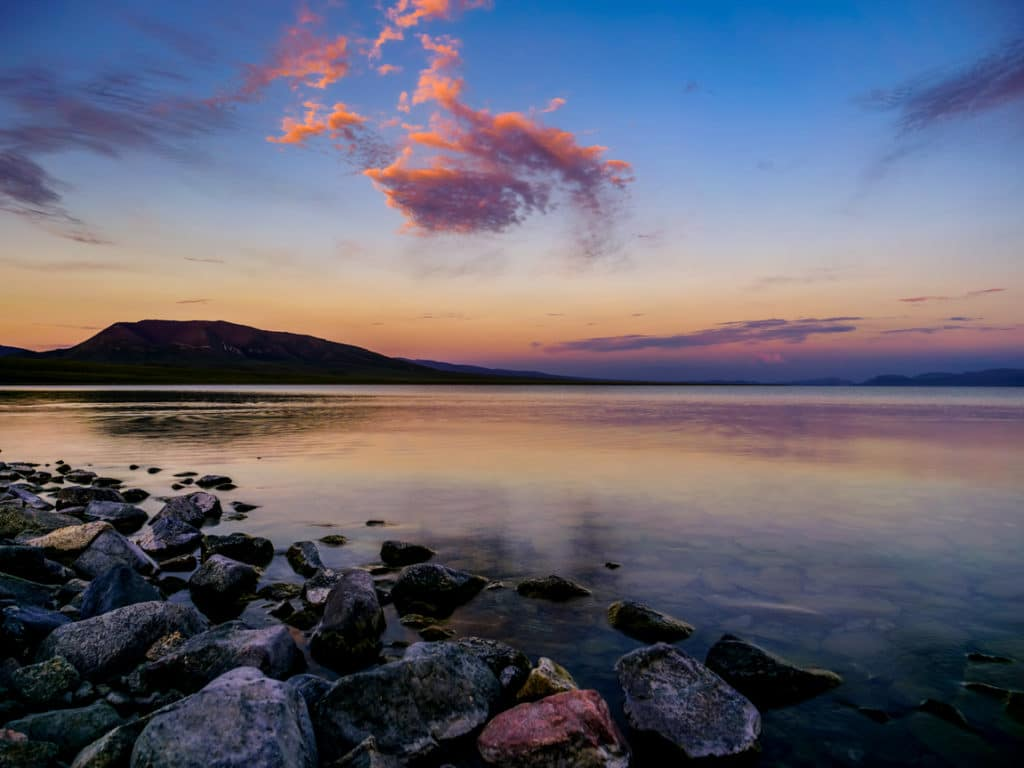 Sunset at Song Kol Lake - Journal of Nomads