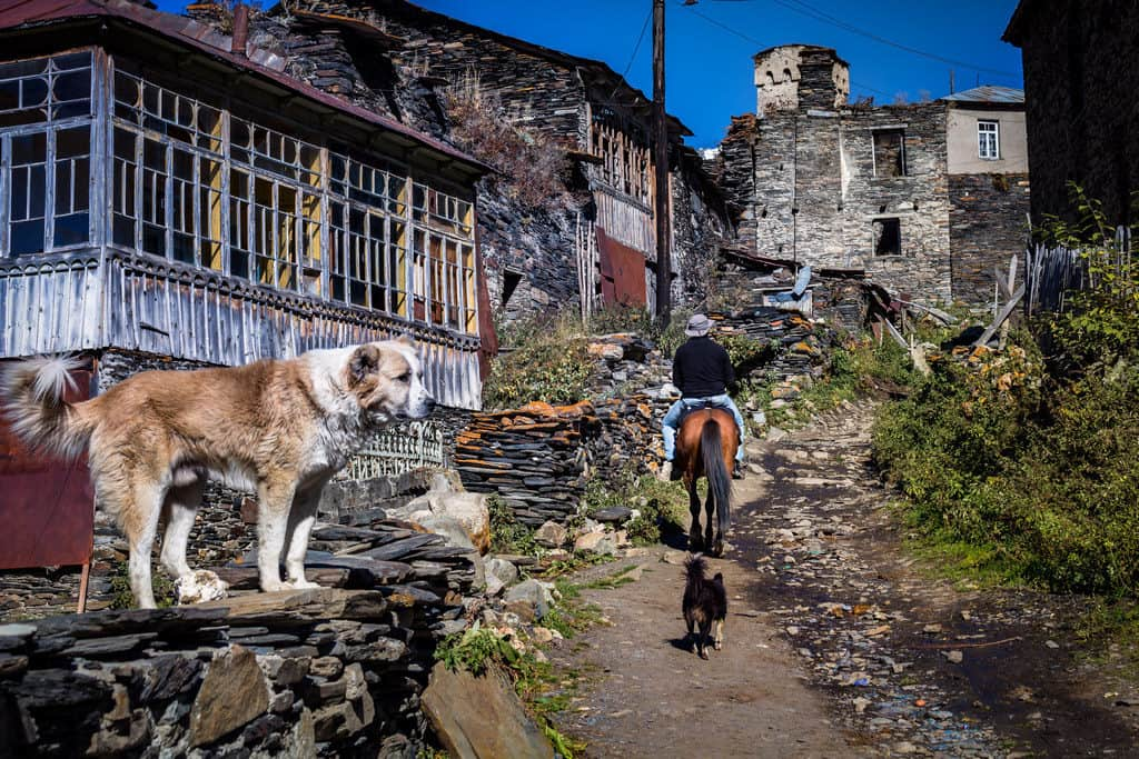The streets of Ushguli, a village in Svaneti Georgia - Journal of Nomads
