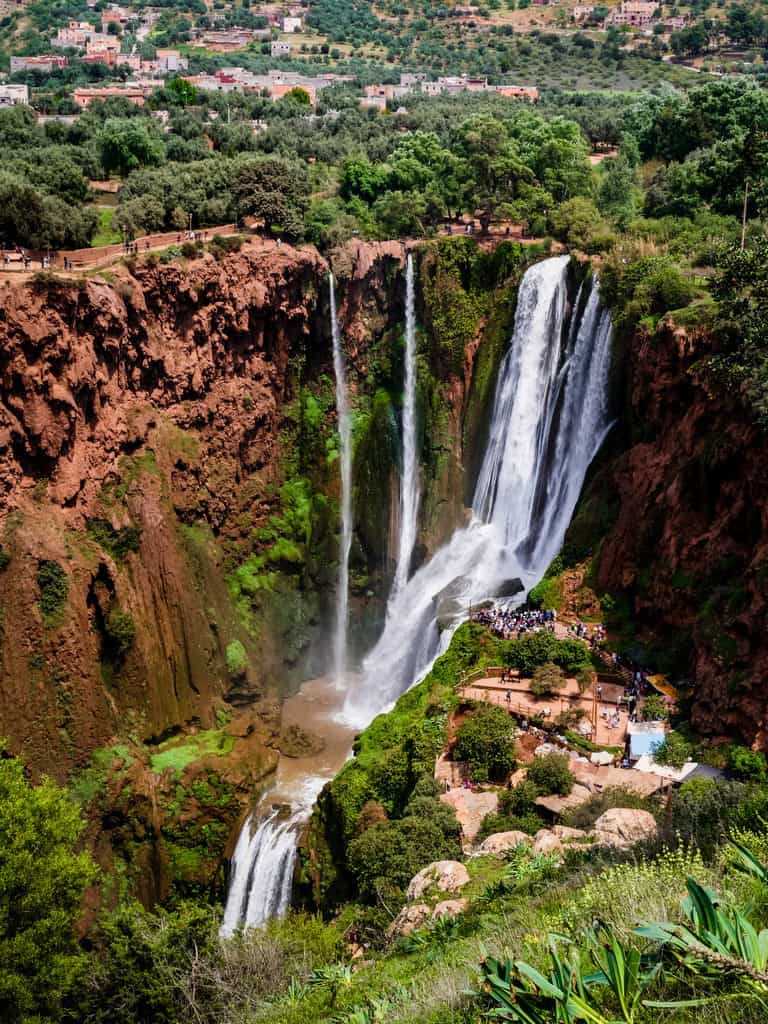 Best viewpoint Ouzoud Waterfalls - Journal of Nomads