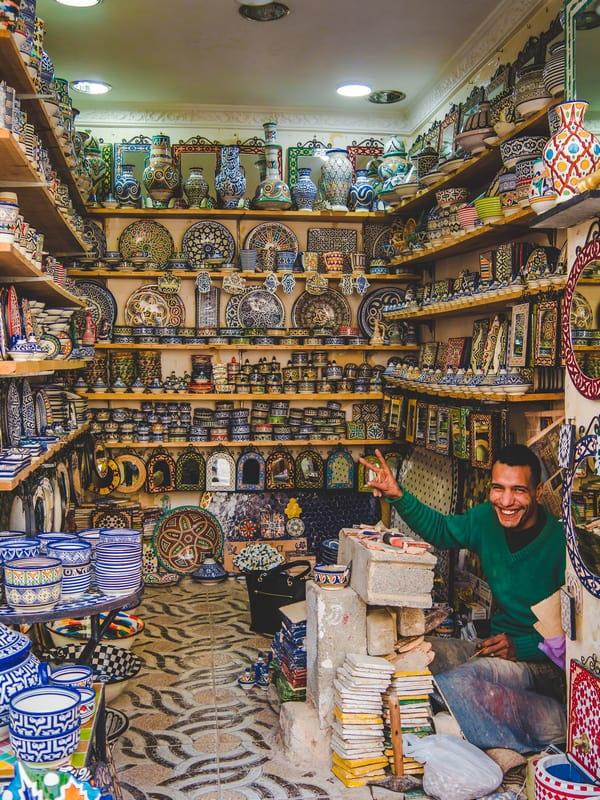Ceramic artist in Tangier Morocco - Journal of Nomads