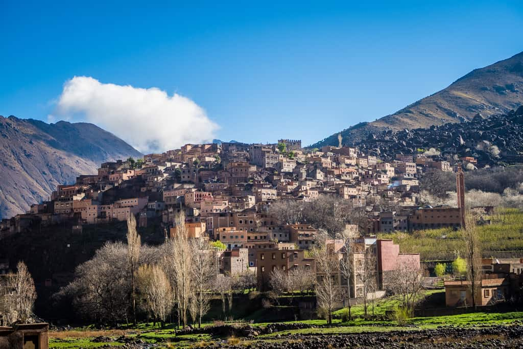 the village of Armound near imlil - berber village near toubkal morocco - journal of nomads