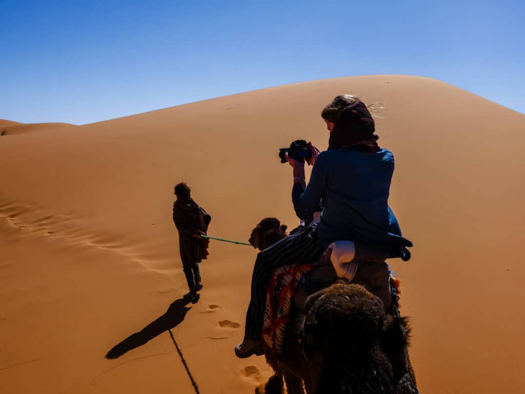 Camel riding in Morocco - Journal of Nomads