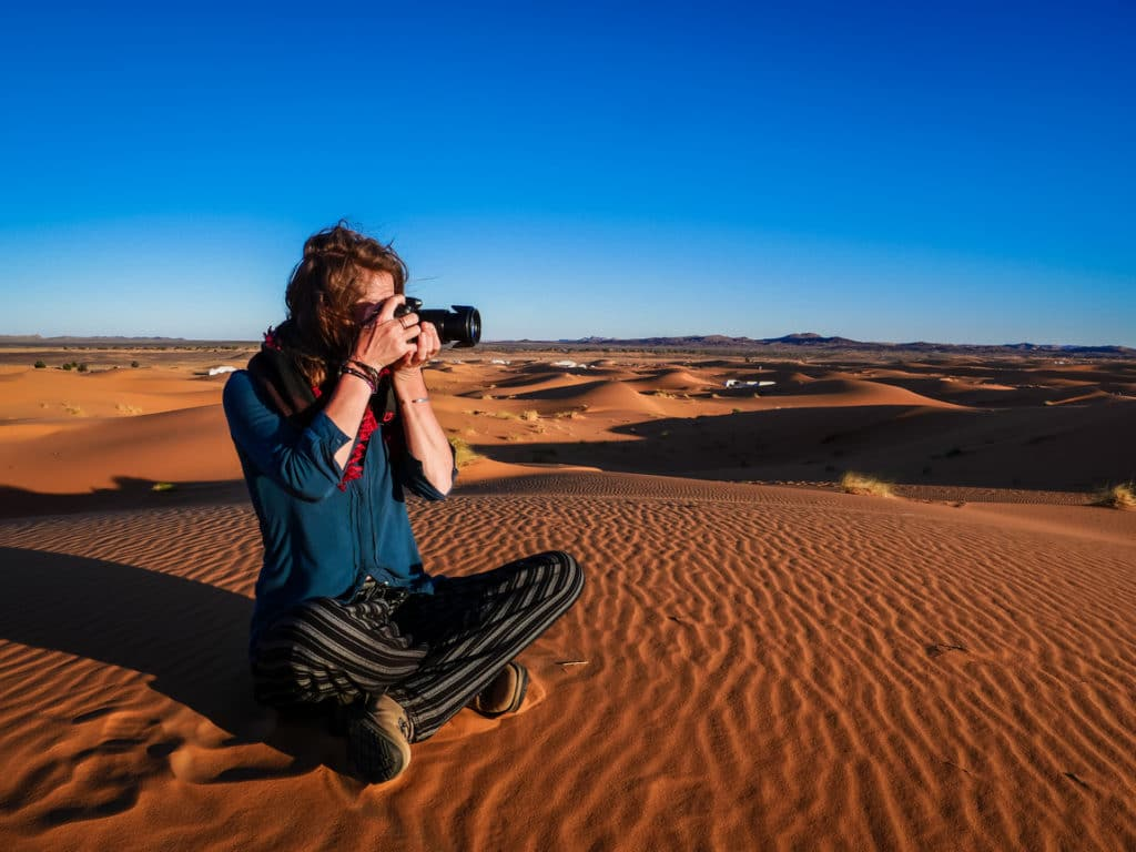 Charge while shooting - Lumix G90 - Sahara Desert Morocco - Journal of Nomads