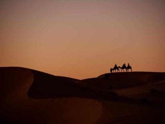 Sunset in Sahara Desert - Merzouga-Morocco - Journal of Nomads