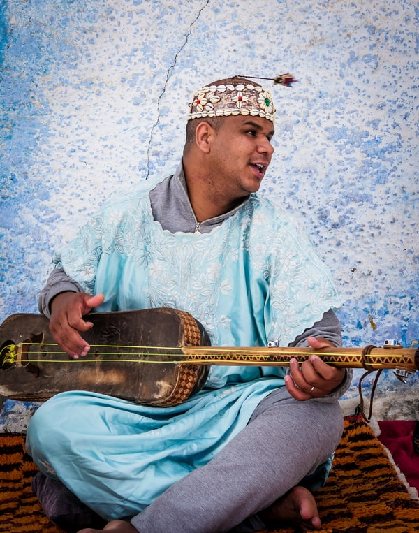 Street musician in Rabat Morocco - Journal of Nomads