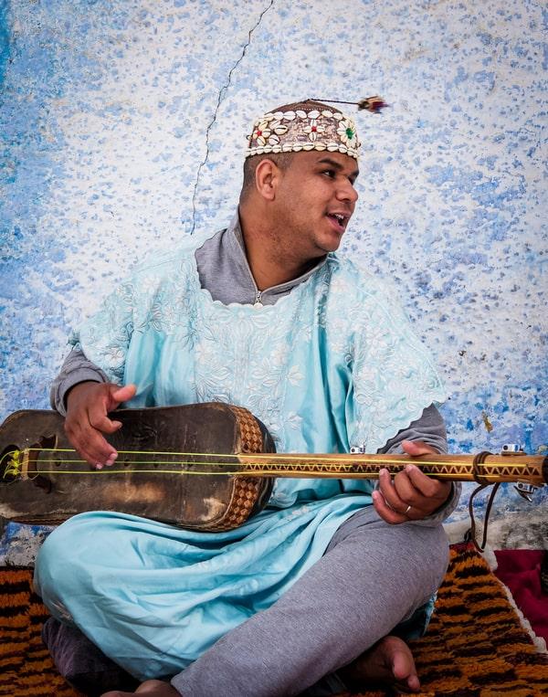 Street musician in Rabat Morocco - Journal of Nomads