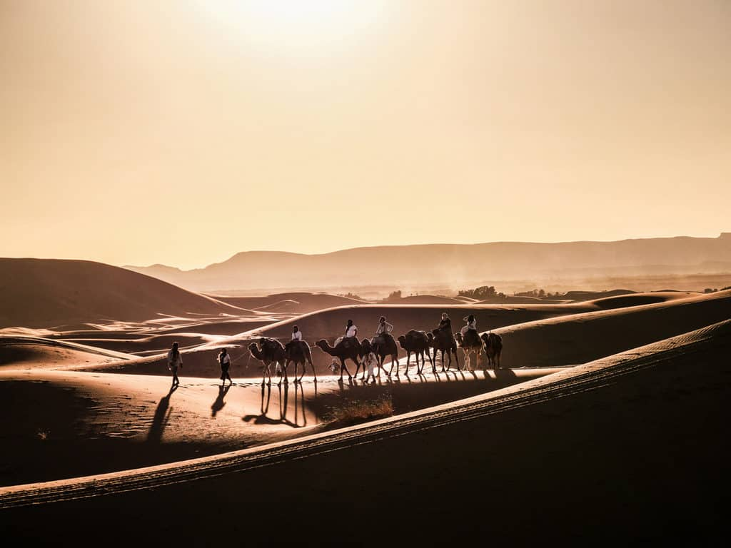Sunset in the Sahara desert, Merzouga, Morocco - Journal of Nomads