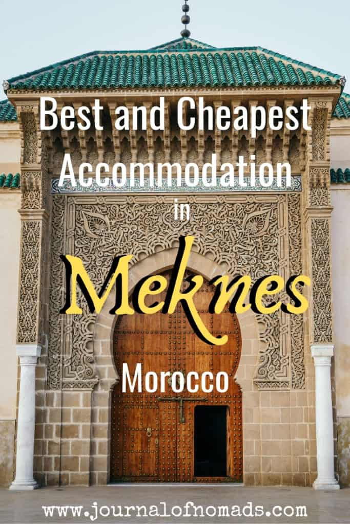 Best and cheapest budget accomodation in Meknes and Volubilis - Morocco - journal of nomads