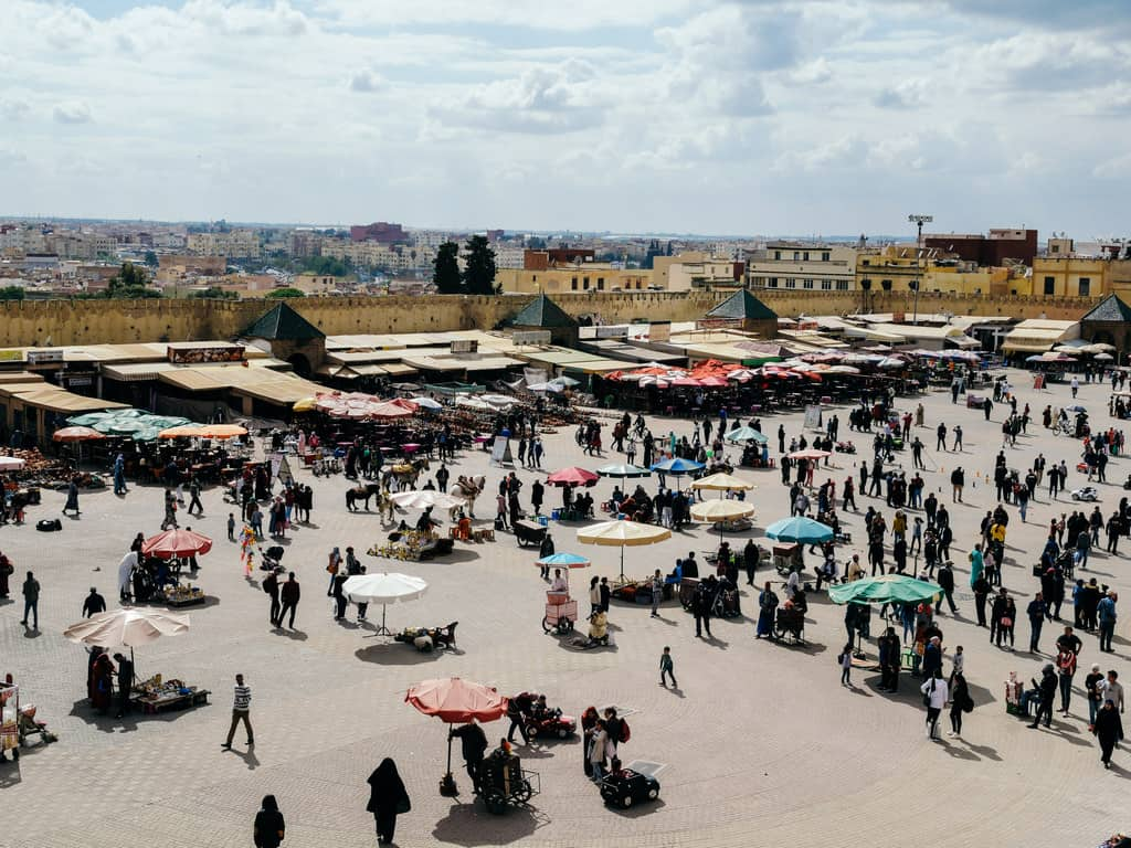 place lahdim - al hadim square - Meknes Morocco - journal of nomads
