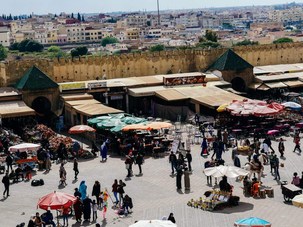 place lahdim - al hadim square - Meknes Morocco - journal of nomads