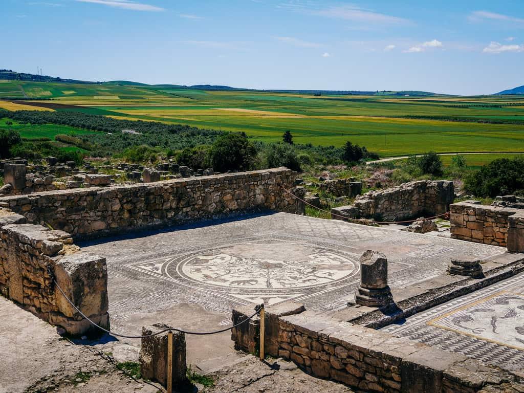 mosaics volubilis Meknes morocco - journal of nomads