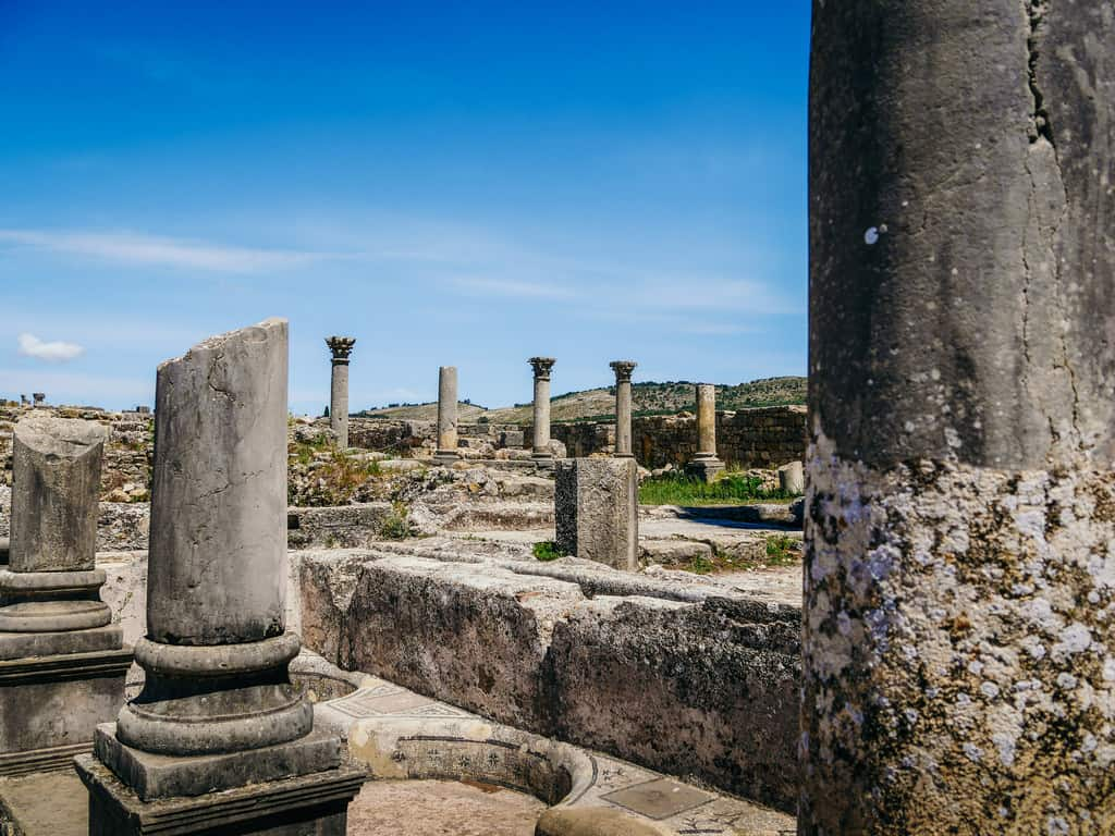 best accommodation Meknes Morocco - Volubilis Roman ruins - journal of nomads