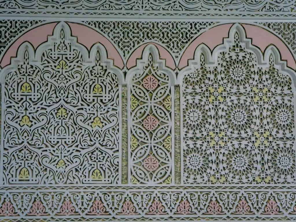 tiles wall carvings riads meknes morocco - journal of nomads
