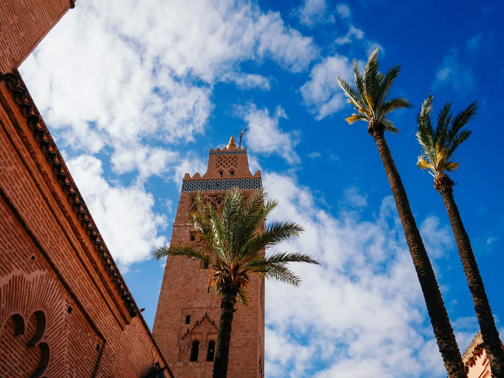 Koutoubia mosque Marrakesh Morocco - journal of nomads