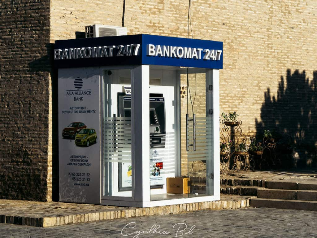 Bankomats and ATM in Uzbekistan - Uzbekistan Travel Guide - Can I pay with credit card in Uzbekistan - Journal of Nomads
