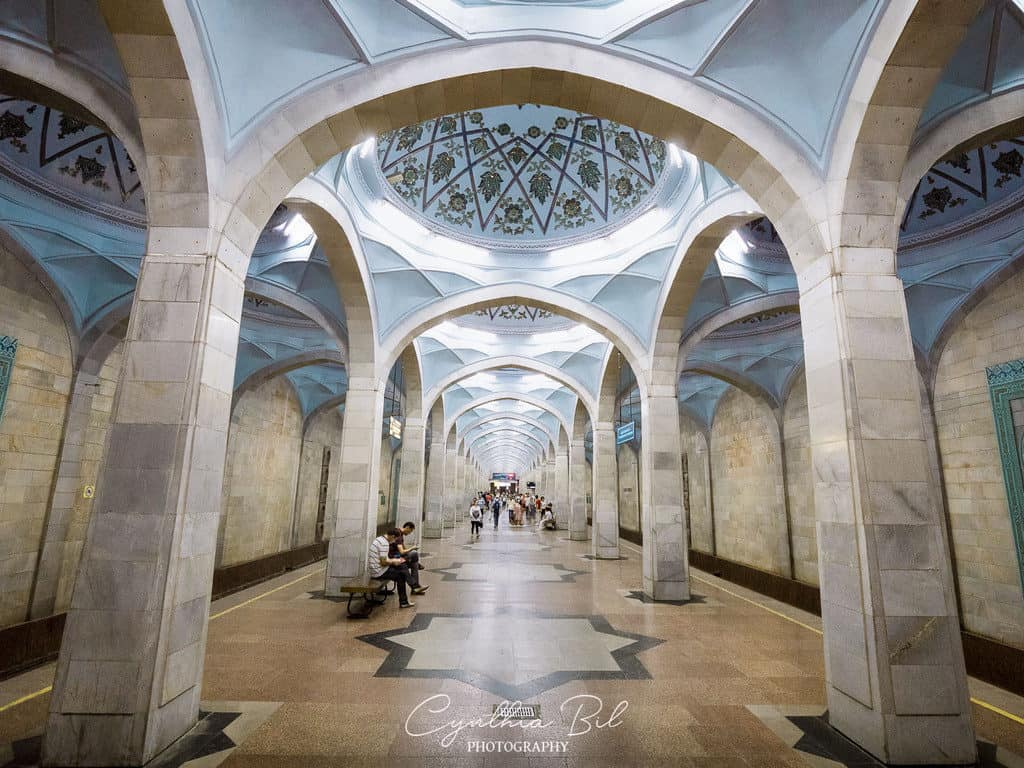 Most beautiful metro stations in Tashkent Uzbekistan - Alisher Navoi Metro Station - Journal of Nomads
