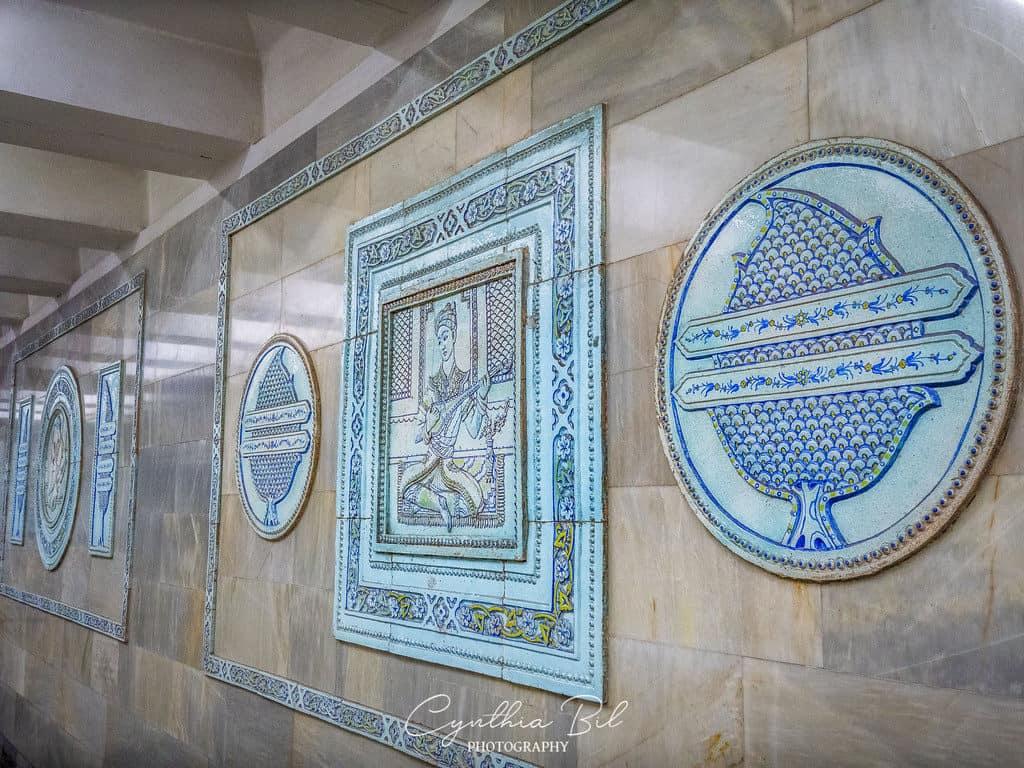 Alisher Navoi metro station Tashkent Uzbekistan - murals poet Alisher Navoi - Journal of Nomads