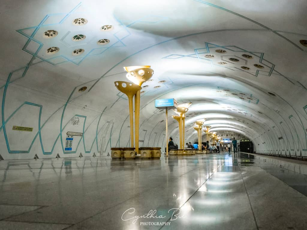 Beautiful metro stations in Tashkent Uzbekistan - Bodomzor - Journal of Nomads