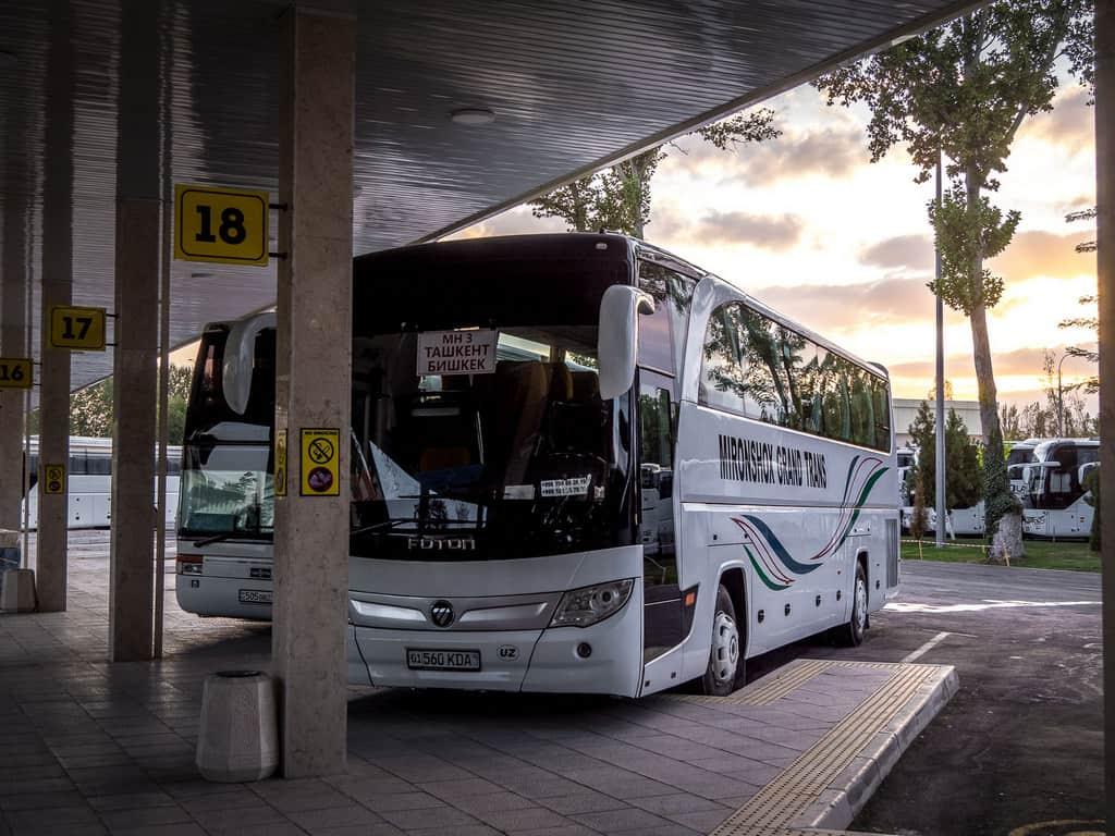 Bus from Tashkent to Bishkek - Journal of Nomads