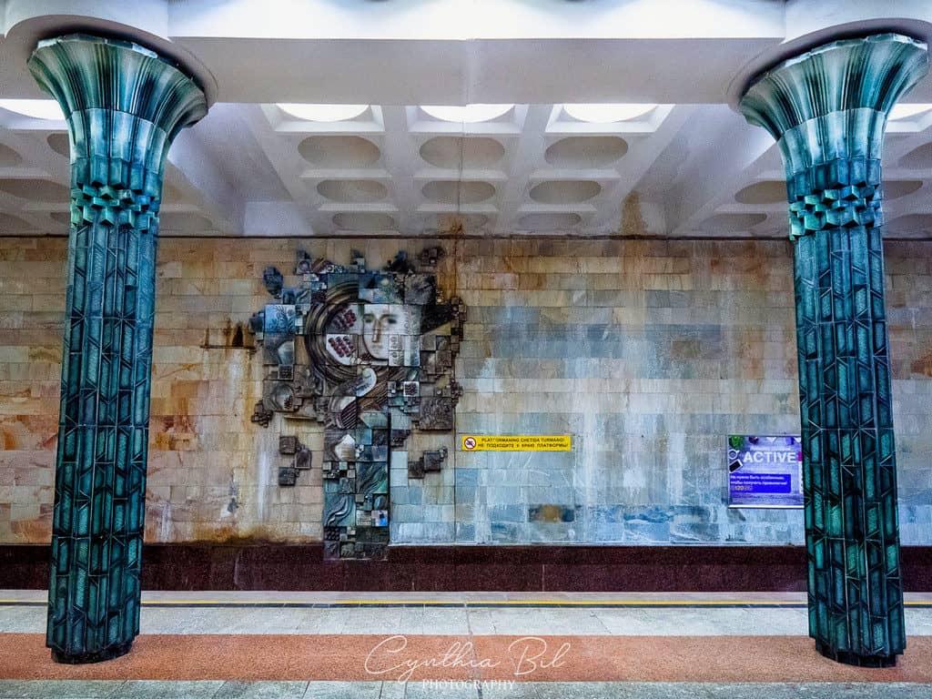 Gafur Gulom artistic decorations Tashkent Underground Uzbekistan - Journal of Nomads