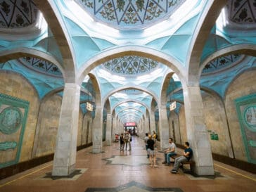 Metro Tashkent - the most beautiful and best metro stations in Tashkent, Uzbekistan - Tashkent metro - Journal of Nomads
