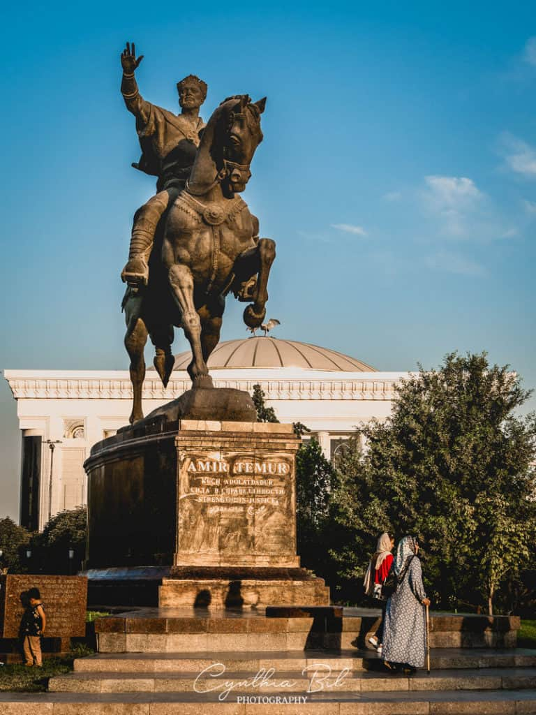from Almaty to Tashkent - statue of Timur - Journal of Nomads