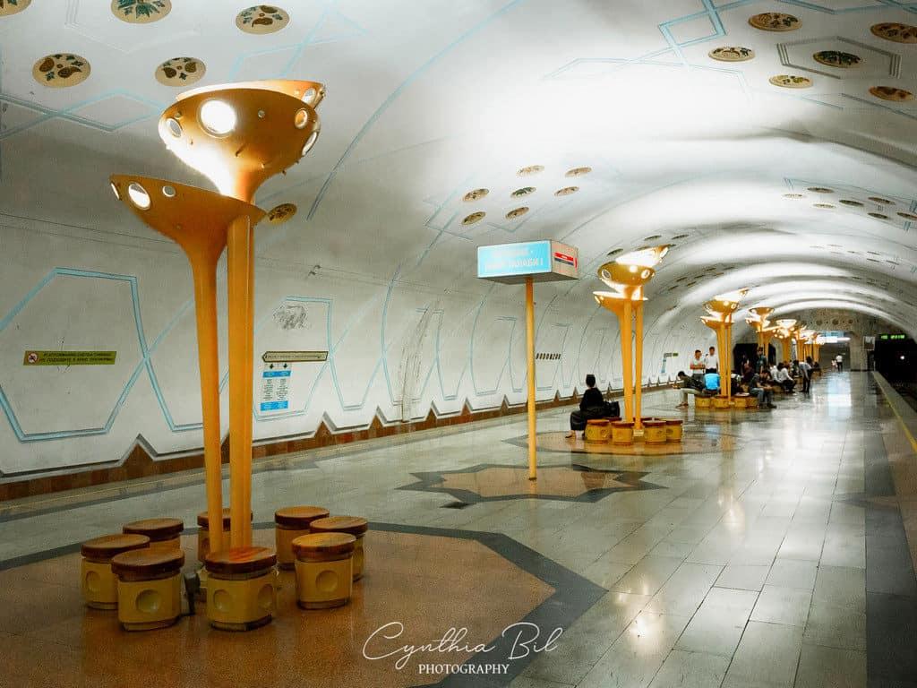 Bodomzor metro Tashkent beautiful underground uzbekistan pictures - journal of nomads