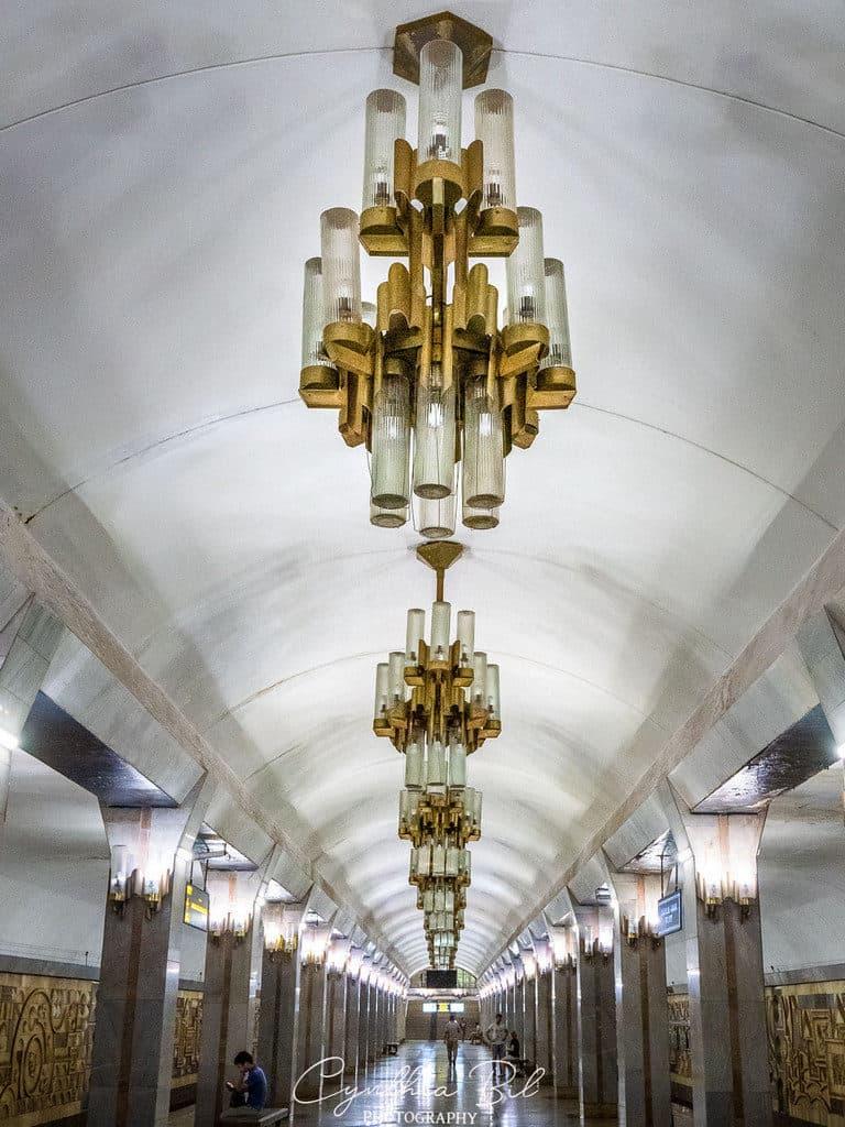 Ceiling Tinchlik Metro Station - Beautiful Metro Tashkent Photos- Journal of Nomads